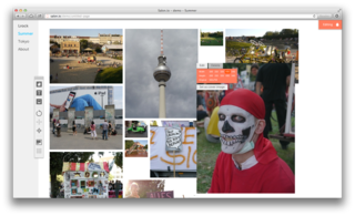 Canvas view - uploaded images and rearranging using drag & drop.