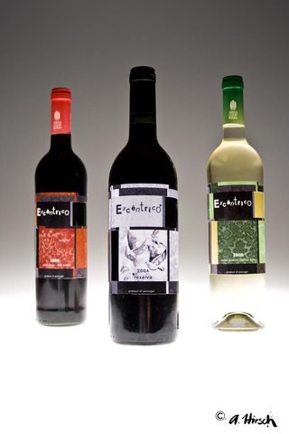 "Labels for the portuguese wine ""Excentrico"""
