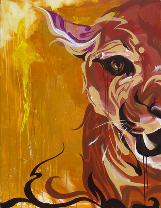 『 Live -Lion- 』   116.7×91.0cm / acrylic on canvas /  2008