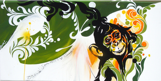 『 Naturalism -Monkey- 』   122×61cm / acrylic on canvas /  2007   --SOLD OUT--