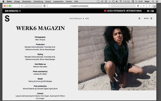 Web feature S-Magazine / S-Photography /  Leica S