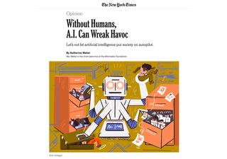 THE NEW YORK TIMES – 2019   Without humans, AI can wreak havoc
