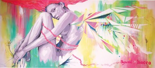 『 Women's worth 』  HACCO Livepainting / 2015 at GRAND FRONT OSAKA